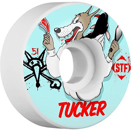 満員ためらう批判的にBones Wheels Tucker STF Wolfpack 51mm Skateboard Wheels (Set of 4) by Bones Wheels