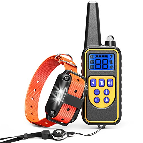 Cambond Dog Shock Collar with Remote, Waterproof Dog Training Collar 2600ft Control Range Rechargeable Shock Collar for Medium and Large Dogs with 4 Training Modes Light Shock Vibration Beep by Cambond