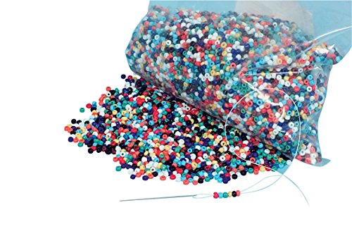 Set Bead Embellishment (Chenille Kraft AC3767DI Round Indian Seed Bead, 8 oz. Size Color, 0.5