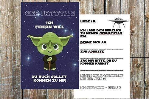 Star Wars Einladungskarten Zum Kindergeburtstag Fur Jungen