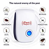 [2018 NEW]Ultrasonic Pest Repeller & Mouse Repeller Plug in Pest Control - Pest Repellent & Mosquito Repellent for Mice,Rat,Bug,Bedbug,Spider,Roach,Ant,Fly,Flea,Moth - No more Trap,oil & Fogger