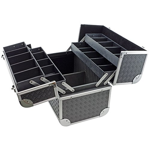 Fishing tackle bait box case toolbox with fold out trays for Fishing bait box