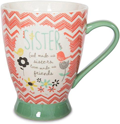 Pavilion Gift Company 74036 Sister Ceramic Mug, 16 oz, Multicolored