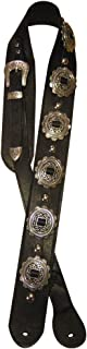 """product image for Heavy Leather NYC Guitar Strap- Rocka Rolla 49-55"""" Black"""