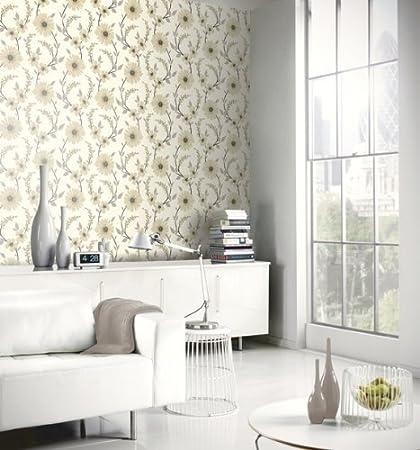 Neutral Beige / Cream / Grey   414204   Stansie   Floral   Arthouse  Wallpaper: Amazon.co.uk: Kitchen U0026 Home
