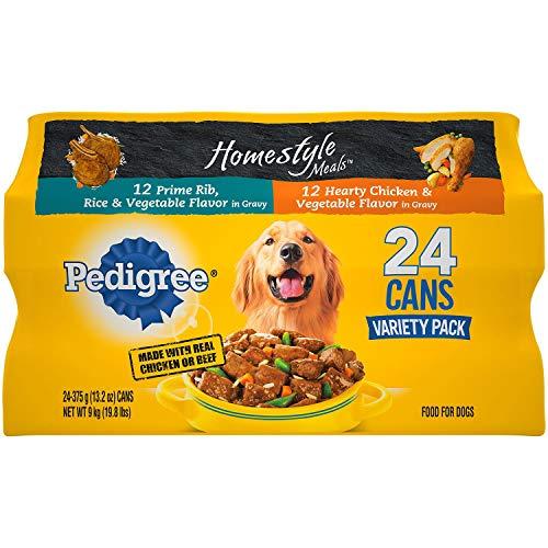 3 X Pedigree Homestyle Choice Cuts Wet Dog Food 24 ct. Variety Pack 13.2 oz