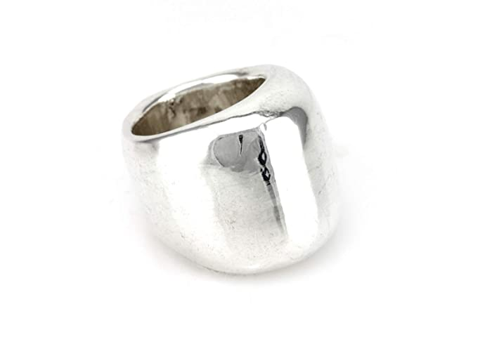 Amazon.com  Handmade Chunky Sterling Silver Ring for Women ab36f1875
