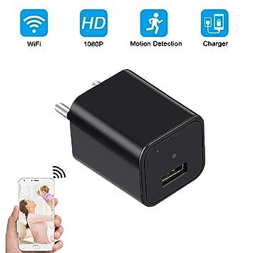 Mini Cámara Espía UYIKOO WiFi Cámara Oculta 1080P HD USB Cargador ...