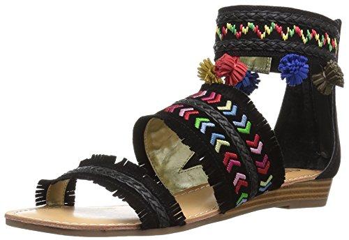 Carlos by Carlos Santana Women's Tangier Flat Sandal, Mustang, 10 M US Black