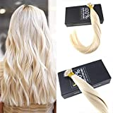 """Sunny 18"""" Micro Nano Tip Hair Extensions Color #60 Bleach Blonde Remy 100 Real Human Hair Nano Ring Extensions 1g/s 50 Strands Per Package"""