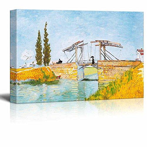 The Langlois Bridge by Vincent Van Gogh Print Famous Oil Painting Reproduction
