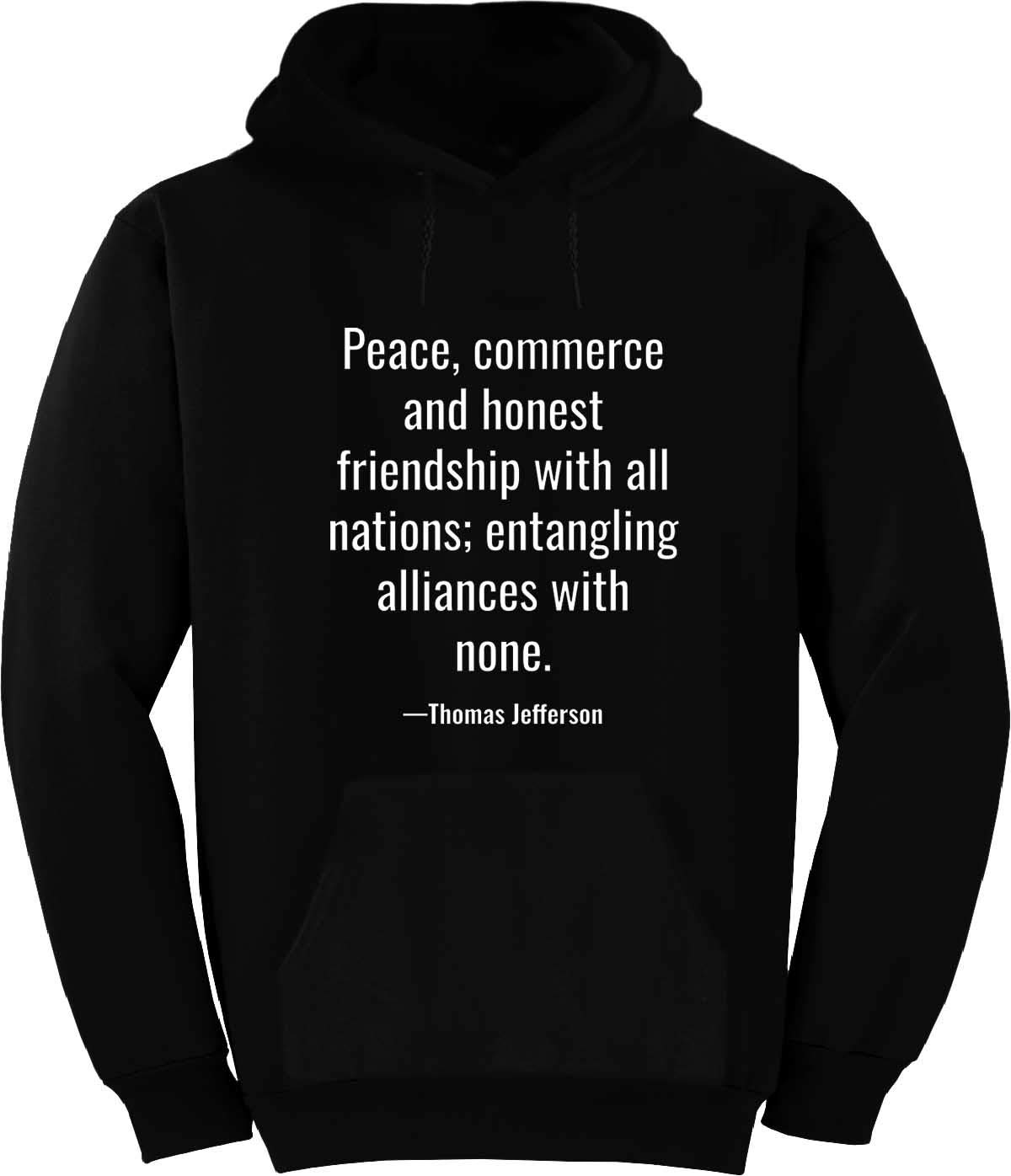 BuffThreads Peace, Commerce and Honest Friendship Hoodie Black