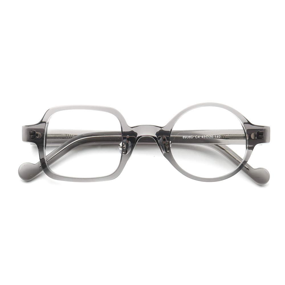 YOUTOP Large Crazy Wacky Mismatch Round Square Eyeglass Frames