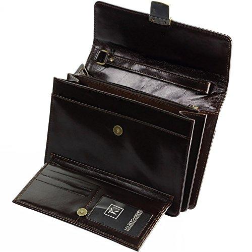 TK 1979 - TK180 - Sac à main pour homme cuir MILANO - Achat utile - Marron, Cuir
