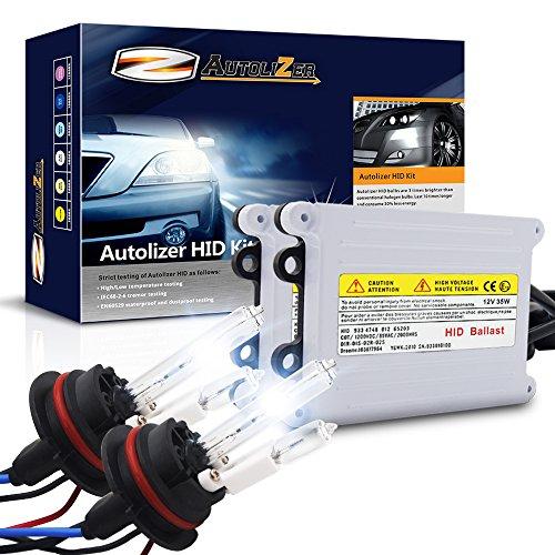 Autolizer 55W HID Xenon Headlight Conversion Kit [9007 9004 HB5 - 8000K Iceberg Blue] (Hi Lo) Halogen