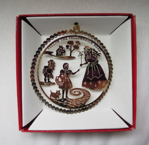 Wizard of Oz Christmas ORNAMENT Follow the Yellow Brick Road Glinda Munchkin Dorothy Toto ()