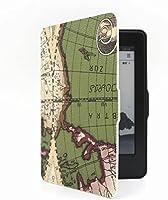 Capa Case Novo Kindle 8a Geração WB Auto Liga/Desliga - Ultra Leve Mapa Verde