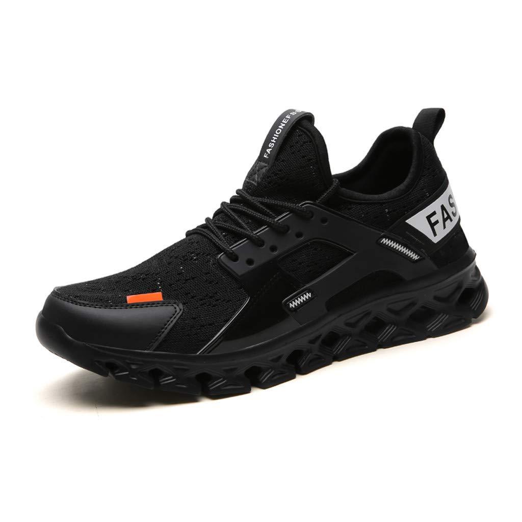 ★QueenBB★ Mens Blade Wave Walking Shoes Mesh Breathable Athletic Running Gym Sneakers Tennis Shoe Black