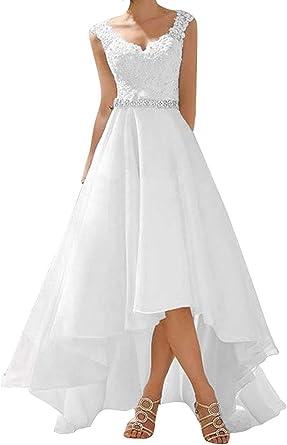 Robe de mariée courte vintage en dentelle