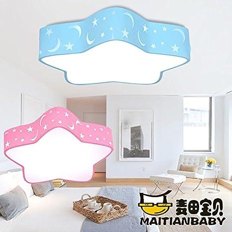 LYXG Habitación niños Petokraka luces lámpara de techo cartoon boy habitaciones Creative Star Light Led lámparas (niñas dormitorio diámetro 380mm), ...