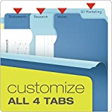 Pendaflex Divide-It-Up File Folder, Letter Size, 24 Count, Assorted Colors