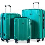 Best Suitcases - Merax 3 Piece P.E.T Luggage Set Eco-friendly Light Review