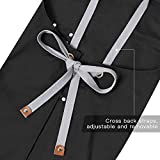 Chef Apron-Cross Back Apron for Men Women with