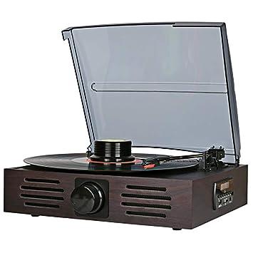 HXWS Gramófono Retro Bluetooth, función de grabación ...