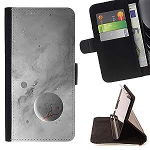 Momo Phone Case / Flip Funda de Cuero Case Cover - Luna Blanca;;;;;;;; - Samsung Galaxy S6