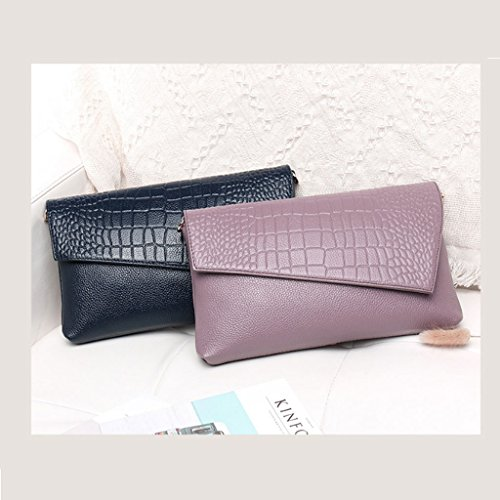 capacity Pattern Dei Women Clutch High Messenger Leather Korean Blue Handbags Bag Bag Crocodile Leather Clutch color Fashion Luxury Red Qi Clutch Bag Handbags Bag nwU50qI0d