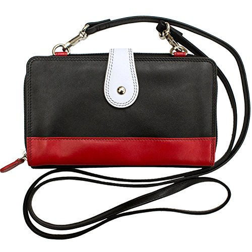 Lining York 6364 RFID Red Black Wallet Blocking with ili New White Crossbody Smartphone zqzwaU