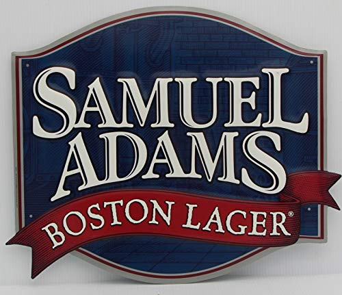 (Sam Adams Boston Lager Metal Sign die Cut Embossed)