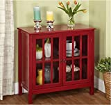 Cumberland Double Glass Door Cabinet (Red) Review
