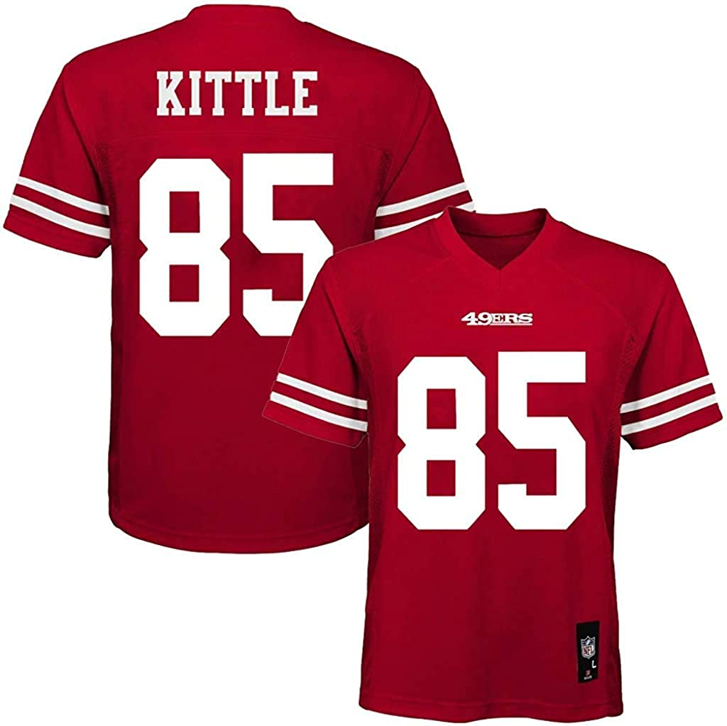 Amazon Com George Kittle San Francisco 49ers 85 Red Kids Home Mid Tier Jersey Clothing