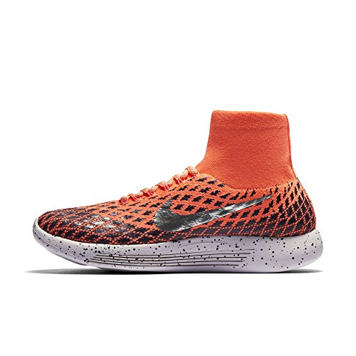 Nike Femmes Lunarepic Flyknit Bouclier Chaussures De Course Lumineux Mangue / Argent Métallique