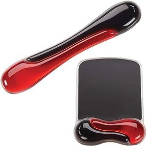 Kensington Duo Gel Mouse & Keyboard Wrist Rest Bundle, Red (K50036WW)