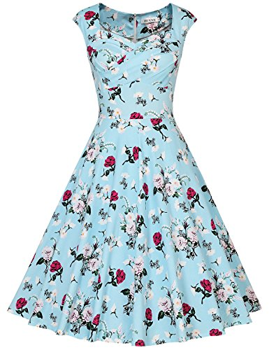 50s style bridesmaid dresses blue - 5