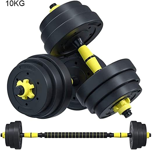 10kg//22lb Dumbbell Bar Combination Environmental Dumbbell Barbell Weights Exercise Muscles Home Fitness Sports Equipment Adjustable Dumbbell Pair Dumbbell Sets With Rack