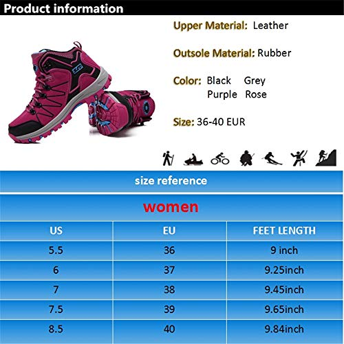 Pictures of FEOZYZ Womens Hiking Boots Trekking Shoes Anti- QLMXZY's 1008 7