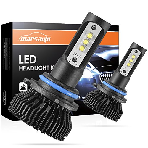 Beam Light Kit Fog (9006/HB4 LED Headlight Bulbs Conversion Kit Marsauto Low Beam/Fog light bulb 12x CREE Chips - 6000LM 6000K Xenon White (Pack of 2))