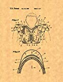 Cantilever Strap For Football Shoulder Pads Patent Print (11' x 14') M10454