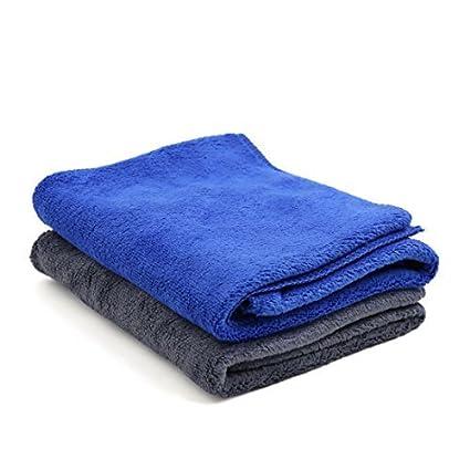 eDealMax 2 piezas Gris Azul Inicio del Cuerpo de coche de pulido de limpieza Lavado Wipe