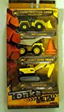 Tonka Construction Crew Collection Metal Diecast Bodies 3 Pack - Pay Loader, Heavy Dump Truck & EXCLUSIVE! Excavator (Bonus: 2 Pylons)