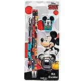 Kit Escolar Mickey, Blister com 5 itens, Molin 22630, Multicor