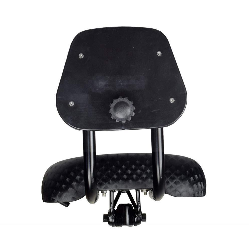 Milnnare Si/ège de Selle de Bicyclette de v/élo Large Confort en Simili Cuir avec Support de Dossier