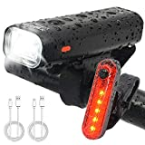 WitMoving Bike Light Set USB Rechargeable Bicycle Light Waterproof Bike Front Light,4 Modes Cycle Head &Tail Light for Road & Mountain Cycling Review