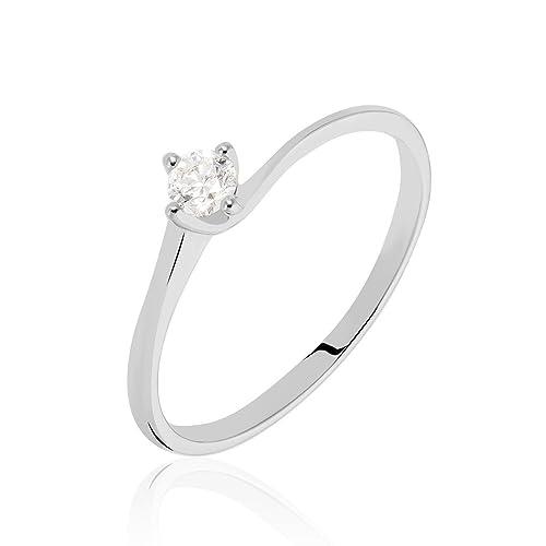 disponibilità nel Regno Unito ae709 a9f01 Stroili - Solitario in oro bianco 18 kt e diamante 0,15 ct ...