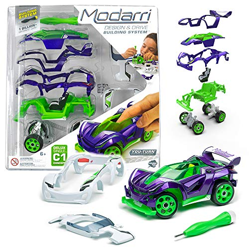 Modarri C1 Concept Purple | STEM Educational Toy Cars | Make a Model car - Design Your own Working Race Cars | Fun and Functional Building Toys for Kids | Girls and Boys Gifts Age 5-10
