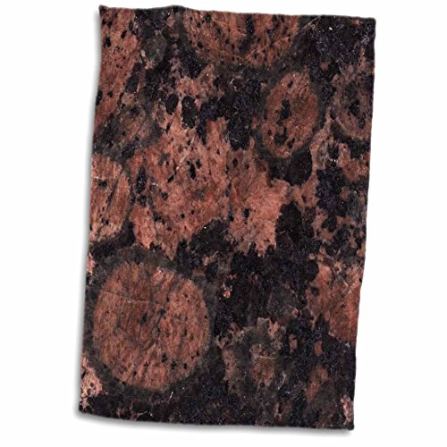 Baltic Granite Brown (3D Rose Baltic Brown Granite Print Hand/Sports Towel, 15 x 22