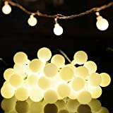 Globe String Lights Indoor / Outdoor Decorative Light 33ft 100 LED Waterproof Ball Fairy Starry Lighting Warm White